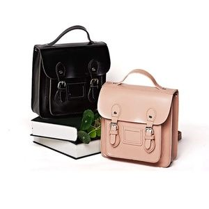 Handbags - Dusty Pink Retro-Style Mini Backpack